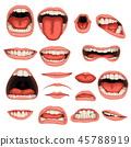 male mouth set 45788919
