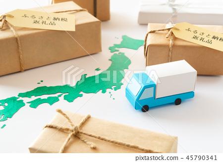 고향 납세 답례품 고향 납세 일본지도 세금 기부금 특산품지도 트럭 택배 45790341