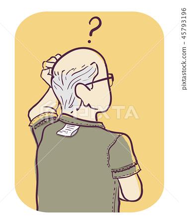 Senior Man Symptom Difficulty Doing Simple Task 45793196