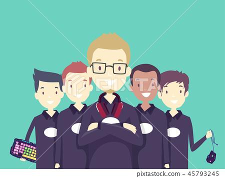 Teens Boys Team Online Gamer Same Shirt 45793245