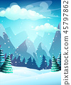 Vector illustration the cartoon winter landscape 45797862