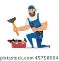 Vector Illustration Concept Plumber Service 45798094