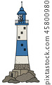 The old blue stone lighthouse 45800980