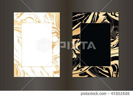 Set of vector black and gold design template... - Stock ...