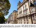 A wide look to streets in Paris 45803943