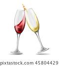 wine, toast, set 45804429