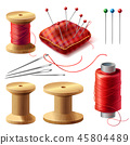 realistic set of sewing supplies 45804489