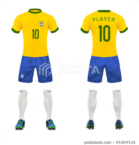 3d realistic uniform of Brasil football player 45804526