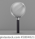Vector magnifying glass with black plastic handle 45804621
