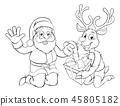 santa, christmas, reindeer 45805182