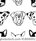 pattern dog vector 45806661