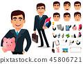 business man cartoon 45806721