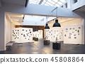 modern museum  interior 45808864