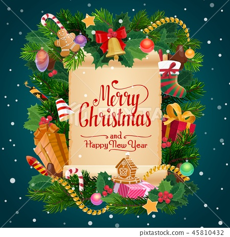 Merry Christmas gifts New Year holiday
