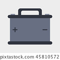 car battery icon 45810572
