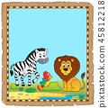 Parchment with African animals 5 45812218