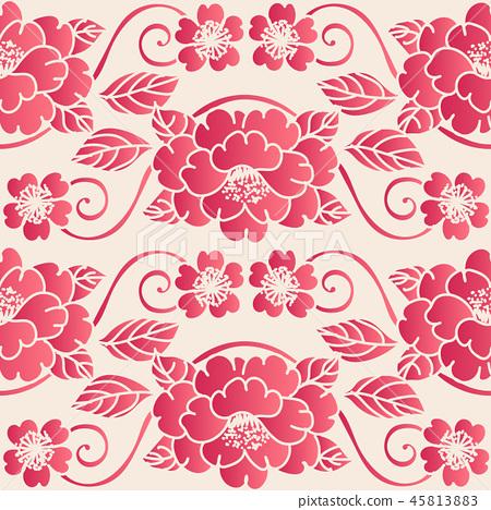 Elegant seamless Chinese style pink background 45813883