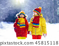 snow, winter, kids 45815118