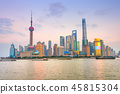 Colorful sunset over Shanghai 45815304