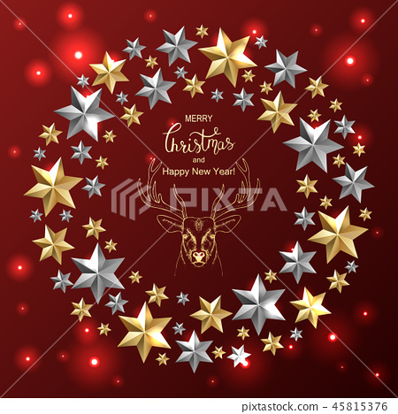 Holiday Vector Lettering background. Merry Christmas concept 45815376