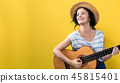 woman, guitar, instrument 45815401