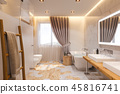 bathroom, interior, 3d 45816741