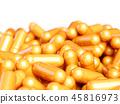 Orange pills capsule tablets 45816973