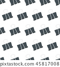Seamless pattern with stationery clip  45817008