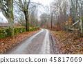 Gravel road in an old rural landscape 45817669
