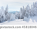 Real snow igloo house in the winter Carpathian mountains 45818046