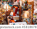 The store is decorated with electric light bulbs 45818678
