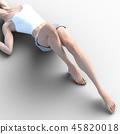 여성 스킨 케어 이미지 다리 각선미 perming3DCG 일러스트 소재 45820018