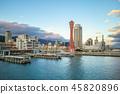 skyline of port of kobe in osaka aera, japan 45820896