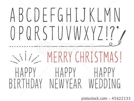手寫的簡單字母表 45822133