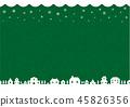 冬天/聖誕節圖像背景例證(編織的樣式)/綠色 45826356