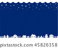 冬天/聖誕節圖像背景例證(編織/針樣式)/藍色·紺 45826358