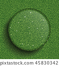 The Circle Glass Banner Green Sequins Background. 45830342