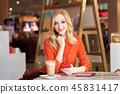 woman, female, restaurant 45831417