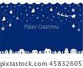 聖誕節圖像背景例證(編織的樣式)/藍色 45832605