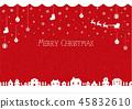 聖誕節圖像背景例證(編織的樣式)/紅色 45832610
