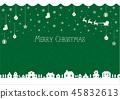 聖誕節圖像背景例證(編織的樣式)/綠色 45832613
