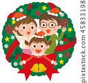 크리스마스리스 가족 45833198