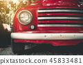 Close up headlight of classic car, Vintage car 45833481