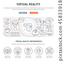 Linear Banner of the Virtual Reality. 45833918