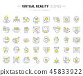 Set Vector Line Icons of Virtual Reality. 45833922