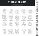 Set Vector Line Icons of Virtual Reality. 45833927