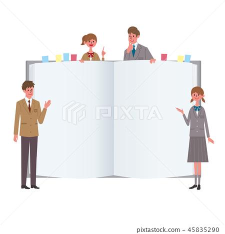 學生初中生高中參考書筆記例證 45835290