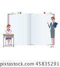 Teacher Student School Information Illustration 45835291