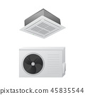 The air conditioning split system. Outdoor and indoor unit. 45835544