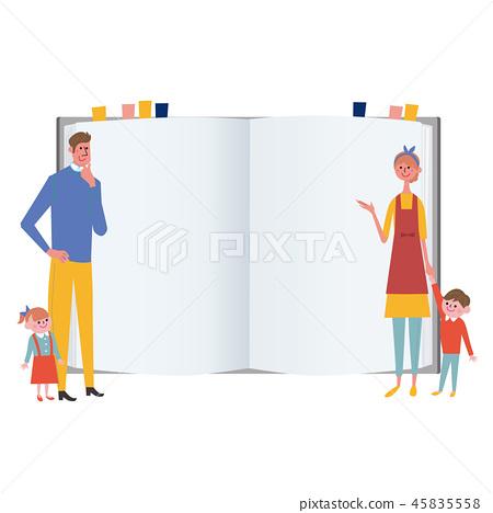 가족이 노트 일러스트 45835558